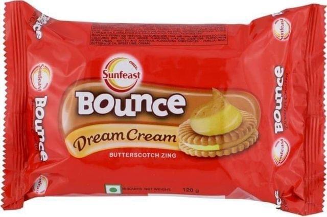 SUNFEAST  BOUNCE DREAM CREAM - BUTTERSCOTCH ZING - 120 Gms