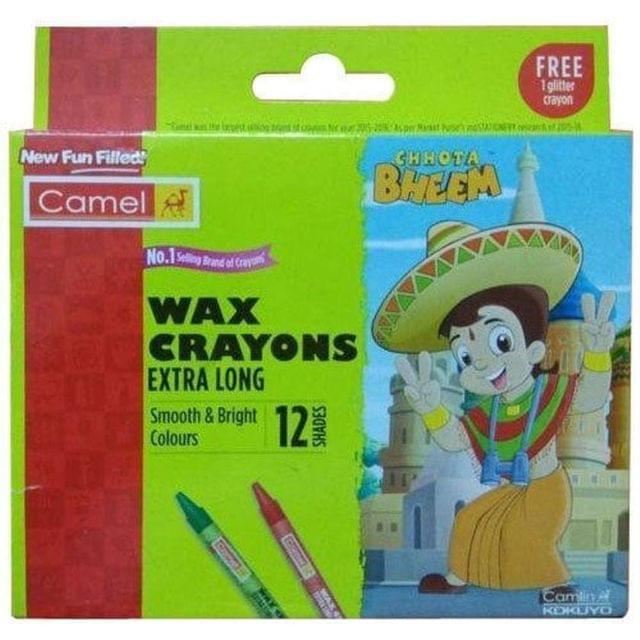 CAMEL - WAX CRAYONS - EXTRA LONG - 12 SHADES