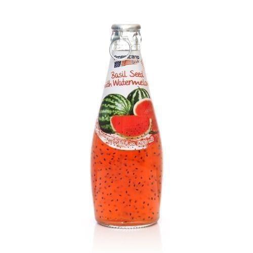 AMERICAN DRINKS - BASIL SEEDS WITH WATERMELON FLAVOR - 290 ML