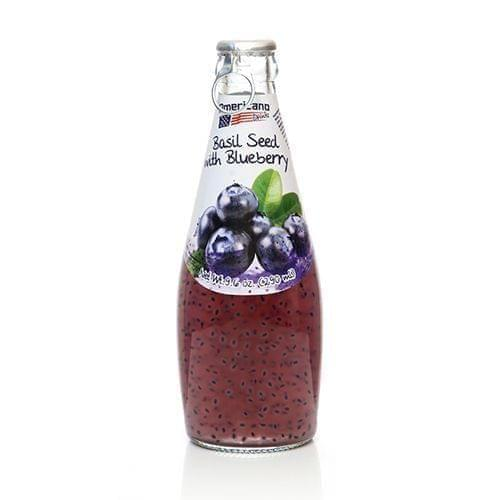 AMERICAN DRINKS - BASIL SEEDS WITH BLUEBERRY FLAVOR - 290 ML
