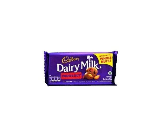 CADBURY - DAIRY MILK - FRUIT AND NUT WITH WHOLE NUTS - 165 Gms