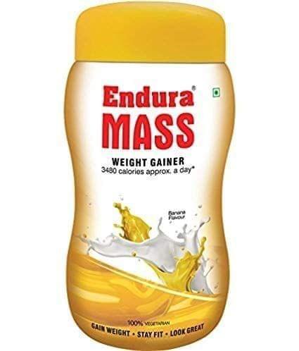 ENDURA MASS - WEIGHT GAINER - BANANA FLAVOR - 500 Gms