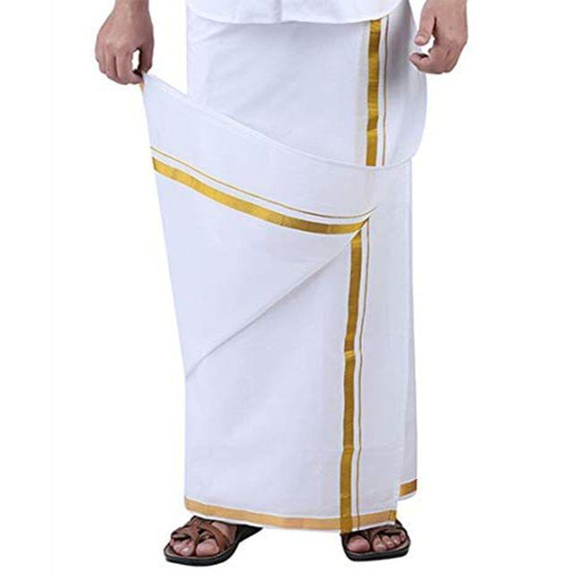 DHOTI SILK - DOUBLE - DRY CLEAN