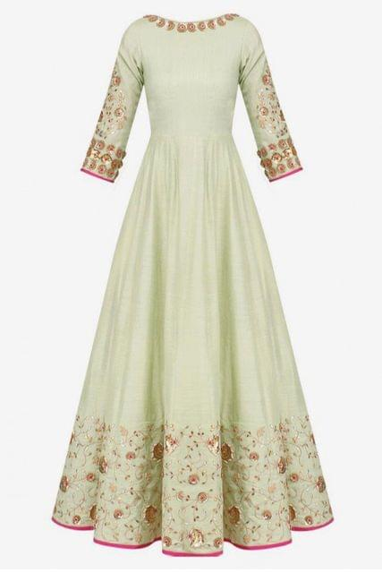 ANARKALI LIGHT DRESS - STEAM PRESS