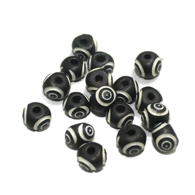 20 Pcs Bone Beads 10x8mm Round
