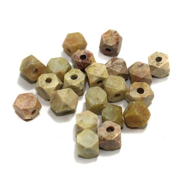 50 Pcs. Soap Stone Hexagon Beads 9mm