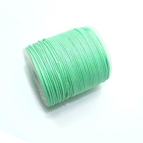 100 Mtrs. Jewellery Making Cotton Cord Mint Green 1mm