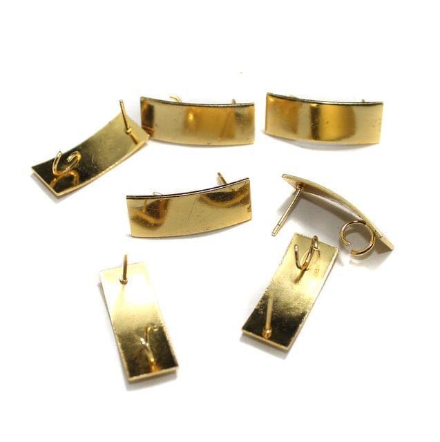 20 Pcs Earrings Components Golden 26x10mm