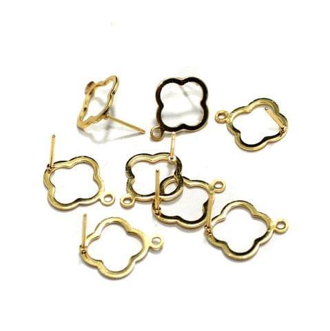 20 Pcs Earrings Components Golden 17x15mm