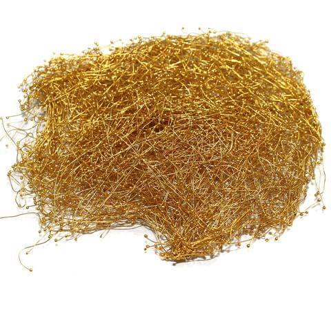 25 Gms Jewellery Fuse Wire Ball Pins Golden 3 Inch