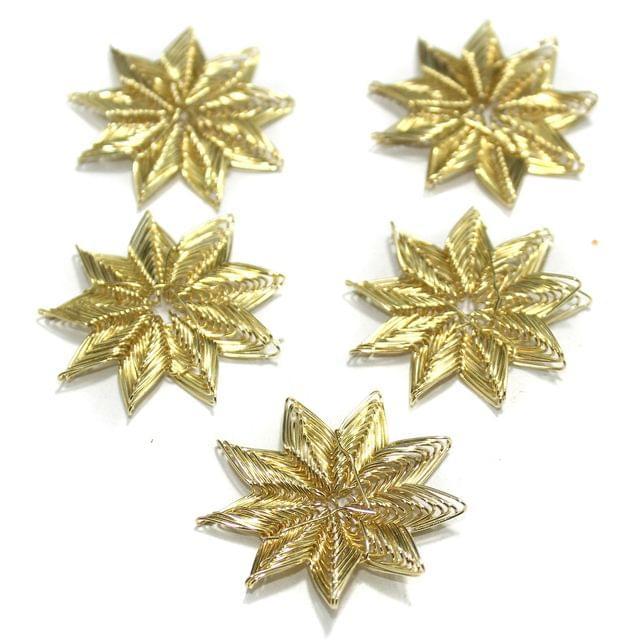 20 Pcs Wire Mesh Beads Golden 30mm