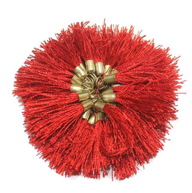 100 Pcs Silk Tassel 1.5 Inch Red