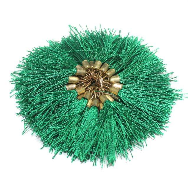 100 Pcs Silk Tassel 1.5 Inch Green