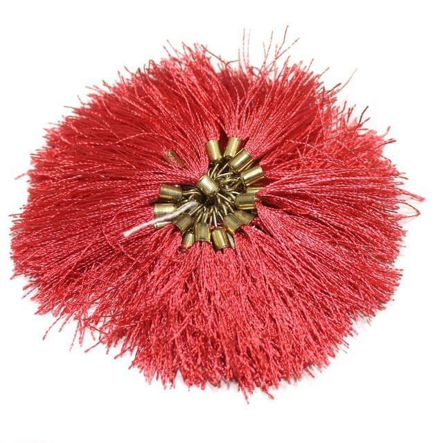 100 Pcs Silk Tassel 1.5 Inch Pink
