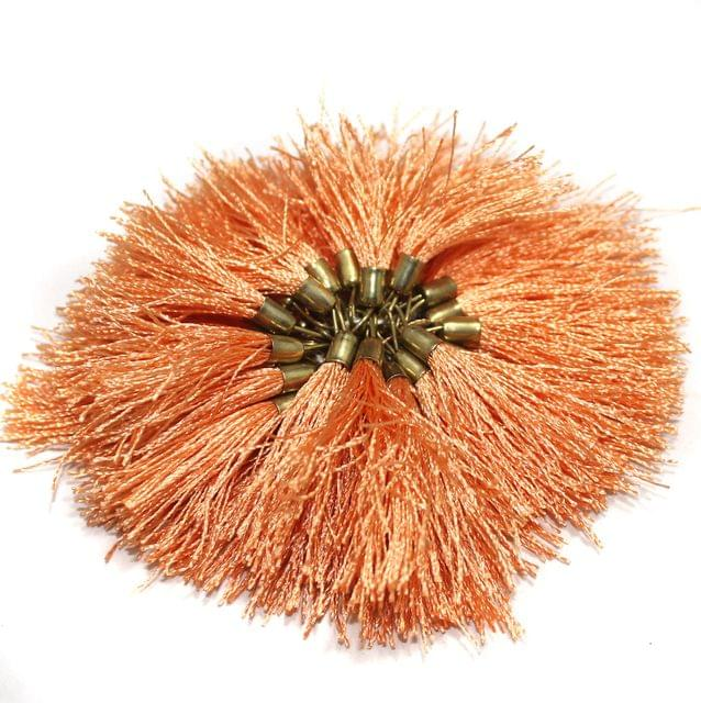 100 Pcs Silk Tassel 1.5 Inch Peach
