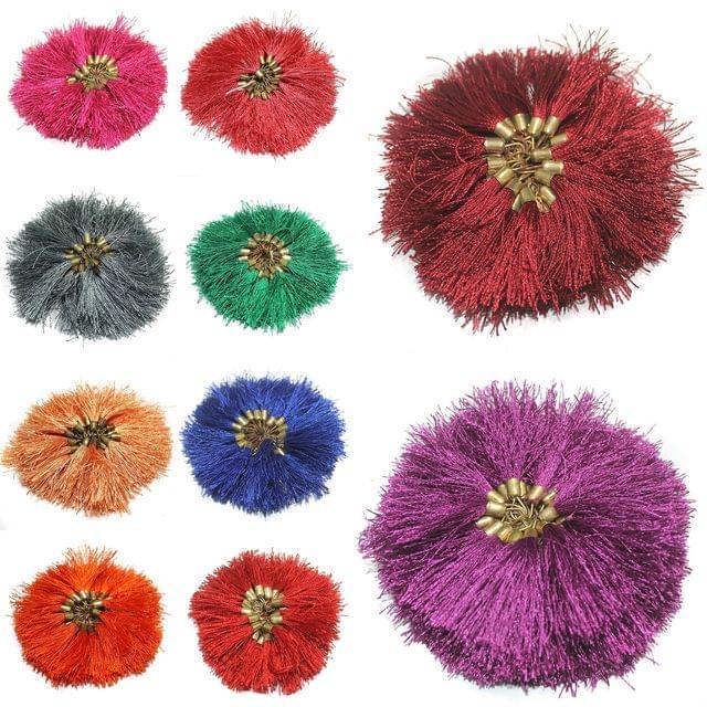 500 Pcs Silk Tassel 1.5 Inch Multicolor Combo