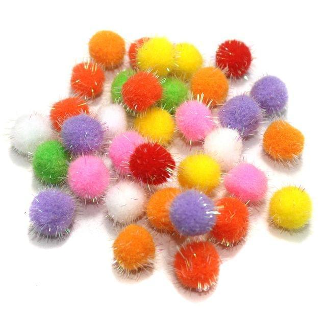 50 Pcs Rainbow Pom Pom Balls Assorted 15 mm