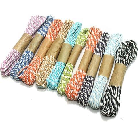 10 Colors Paper Raffia Combo Twisty, Size 1.5mm