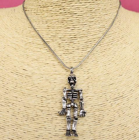 Movable Body Arms Legs Gothic Human Skeleton Skull Pendant