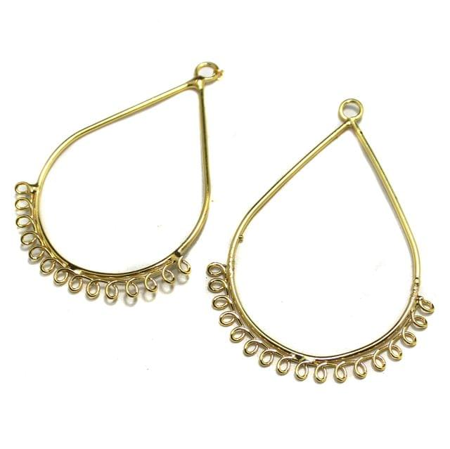 5 Pairs Metal Earrings Components Drop 2 Inch