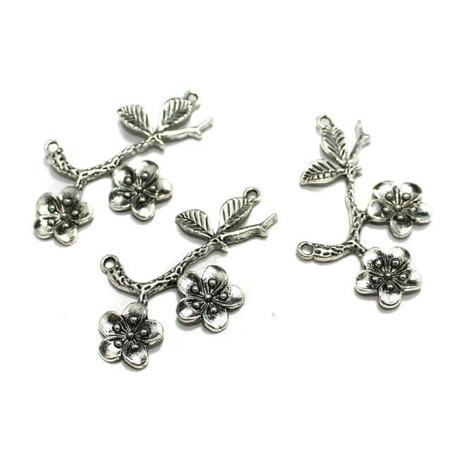 10 Pcs German Silver Pendants 55x33mm