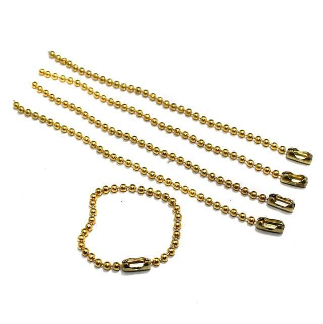 20 Pcs 4mm Metal Ball Chain Extender Golden 5 Inch