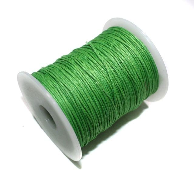 100 Mtrs. Jewellery Making Cotton Cord Parrot Green 1mm