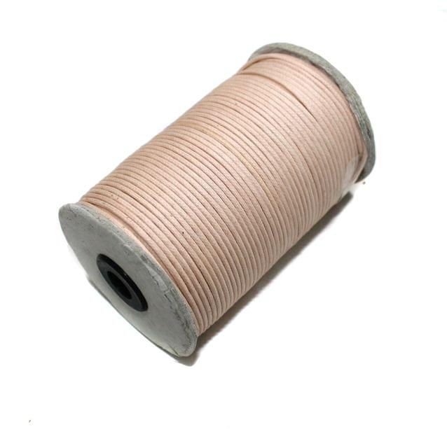 100 Mtrs. Jewellery Making Cotton Cord Peach 2mm