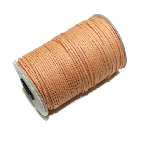 100 Mtrs. Jewellery Making Cotton Cord Light Orange 2mm