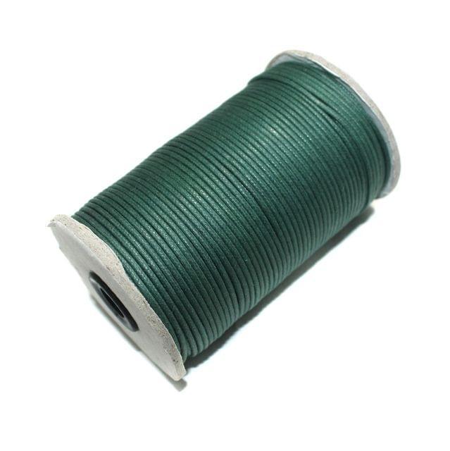 100 Mtrs. Jewellery Making Cotton Cord Dark Green 2mm