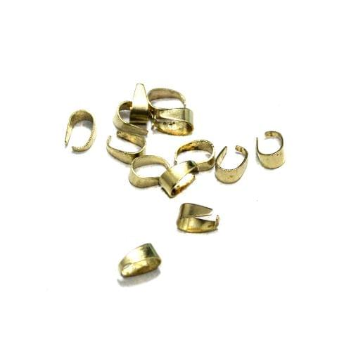 100 Pcs German Silver Pinch Bails Golden 6x3mm