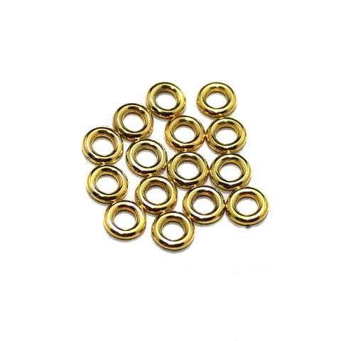 100 Pcs German Silver Round Donut Beads 6mm