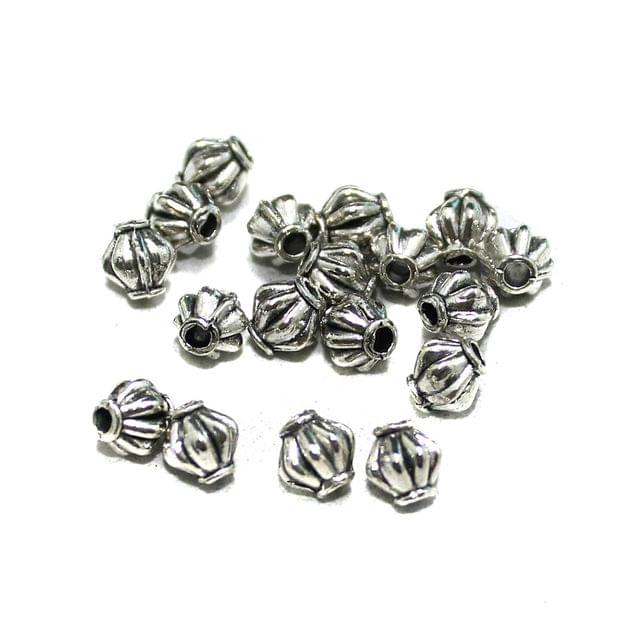50 Pcs German Silver Bicone Beads Silver 4x4mm