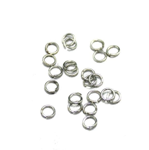 50 Gm German Silver Jump Rings Silver 5mm
