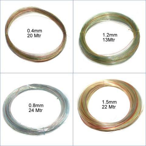 4 Sizes Nylon Thread Combo (Size 0.4mm, 0.8mm, 1.2mm, 1.5mm)