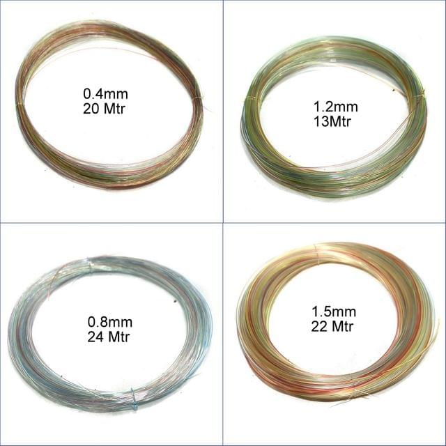 4 Sizes Nylon Thread Combo (Size 0.4mm, 0.8mm, 1.2mm, 1.5mm)