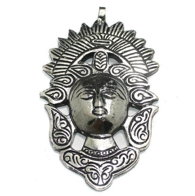 1 Pc German Silver Adam Pendant Silver