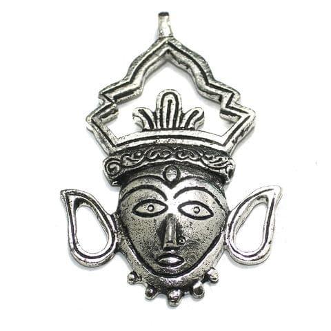 1 Pc German Silver Eve Pendant Silver