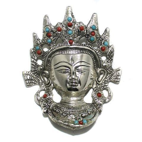 1 Pc German Silver Maa Adi Shakti Pendant Silver