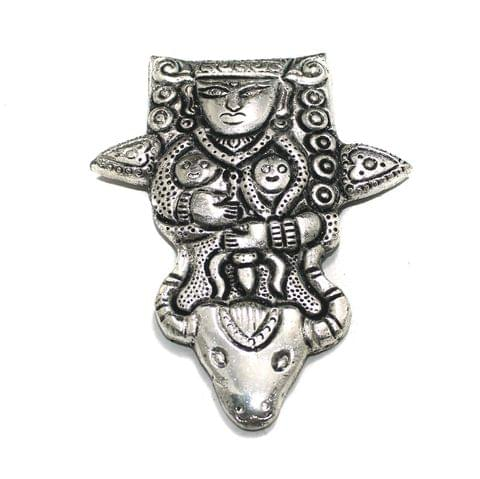 1 Pc German Silver Lord Shiva Pendant Silver