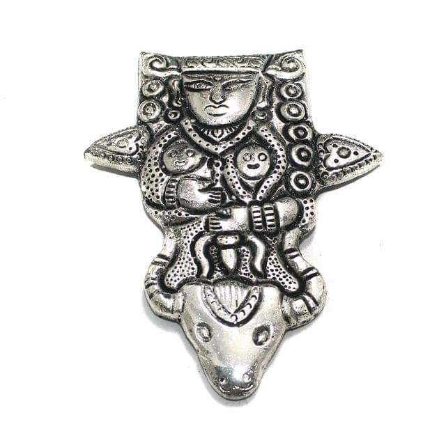 1 Pc German Silver Lord Shiva Pendant Silver