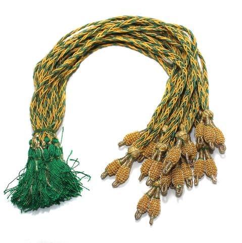 1 Dozen Salma Neckalce Dori Golden Green