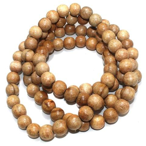 100 Pcs Wooden Beads Round Natural 20mm