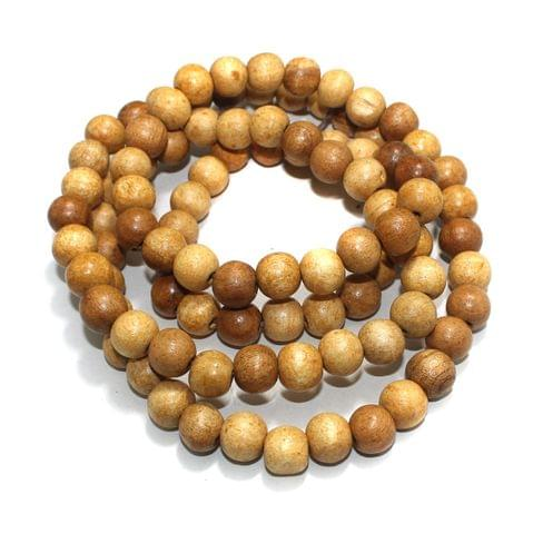 100 Pcs Wooden Beads Round Natural 16mm