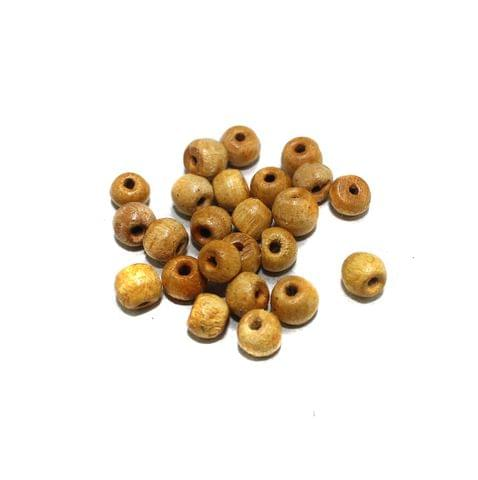 100 Pcs Wooden Beads Round Natural 8mm