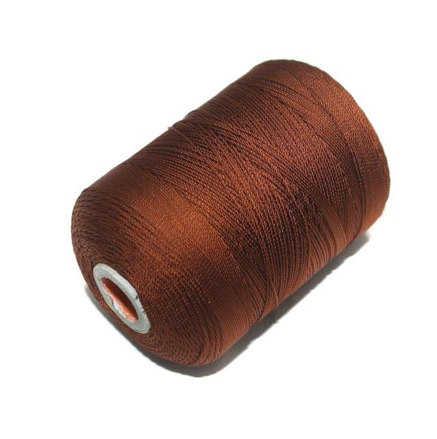 5000 Mtr Satin Cotton Thread 0.40mm Coffee
