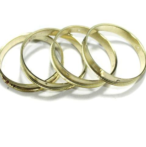4 Pcs Bangle Base Golden 2`4