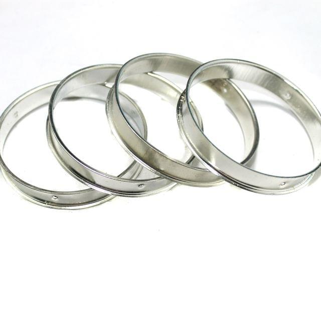 4 Pcs Bangle Base Silver 2`4