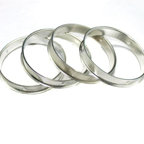 4 Pcs Bangle Base Silver 2`6