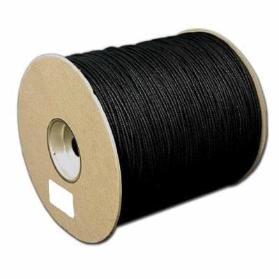 100 Mtrs. Cotton Cord Black 0.5mm